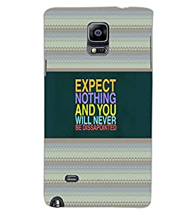 SAMSUNG GALAXY NOTE 4 EXPECT NOTHING Back Cover by PRINTSWAG