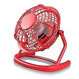 CSL - desk-fan / Fan to connect i.e. with the PC | desk fan / Fan | for PC / Notebook | Windows / Apple compatible | red