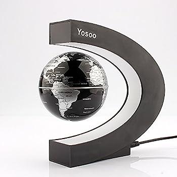 Yosoo Funny C Shape Magnetic Levitation Floating Globe World Map LED Light from new