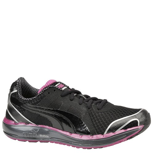 Puma Ladies Faas 550 Athletic Shoes 10/Black/Silver/Fuchsia