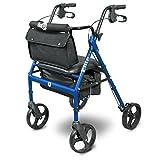 Hugo-Elite-Rollator-Walker-with-Seat-Backrest-and-Saddle-Bag-Blue