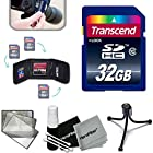Transcend 32GB High Speed SD Memory Card KIT w/ Memory Card Wallet for Canon PowerShot SX60 HS, SX50 HS, SX530 HS, S610 HS, SX710 HS, SX410 IS, G7 X, G1 X, G1 X Mark II, G1 X,G15, G16, SX520 HS, SX600 HS, SX700 HS, SX510 HS, D30, D20, SX500 IS, S200, S120, N, N100, SX50 HS, SX40 HS,SX280 HS, SX270 HS, SX260 HS, A2500, A1400, A3500 IS, S110, SX170 IS, SX160 IS, SX500 IS, A810, A1300, A2300, A2400 IS, A3400 IS, A4000 IS, SX240 HS, SX260 HS Digital Cameras