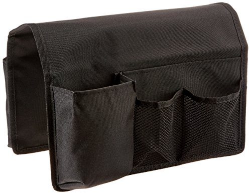 TravelWell Arm Chair Sofa Caddy -TV Remote Control, Tools Holder Organizer, Black (Chair Pocket Organizer compare prices)