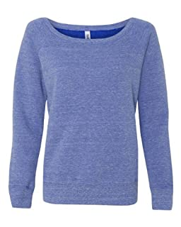 Bella 7501 Ladies Mia Slouchy Wideneck Fleece - Blue Triblend - S