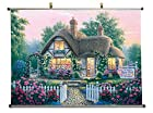 Rose Petal Cottage - Canvas Wall Scroll Poster with metal stretchers (32x24 inches)