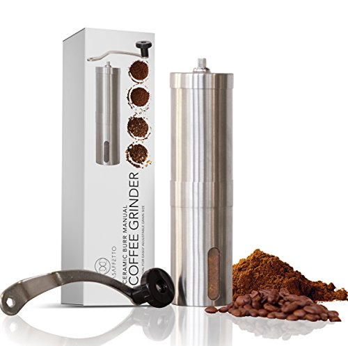 Best Consistent Grind Manual Ceramic Burr Coffee Grinder Stainless Steel With Adjustable Ceramic Burr For Precise Perfect Grind Every Time | Excellent For Espresso Turkish Coffee Pour Over And More