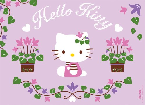 Nathan puzzles - Puzzles 100 pièces Hello Kitty jardine