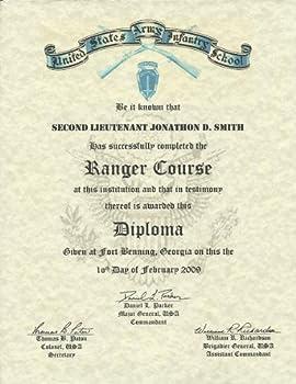 Military Certificate: Ranger School Graduation Diploma