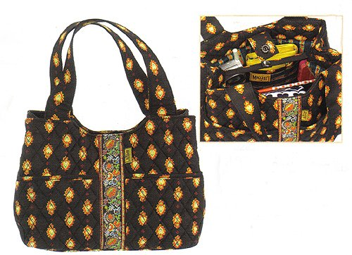 Maggi B French Country Ebony Folklore Day Bucket Bag Purse - Fall 2007 #MB02828