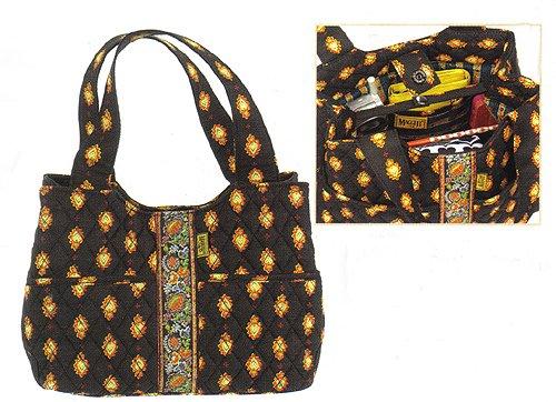 Maggi B French Country Ebony Folklore Day Bucket Bag Purse - Fall 2007 #MB02828