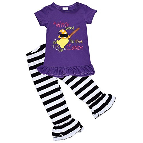 Baby Girls 2 Piece Witch Halloween Outfit