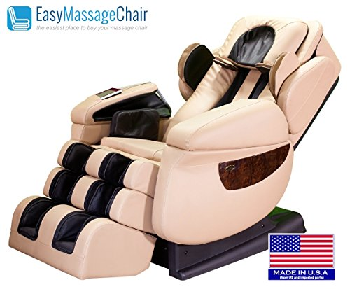 iRobotics 7th Generation 3D Zero Gravity Heating Massage Chair Cream