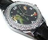New Fashion WS051 Gift New Year New Leather 118 Crystal Watch / Elvis Aaron Presley