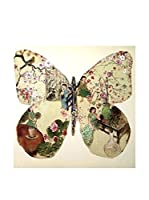 Eclectic Home Hogar Cuadro Impresión Mariposa Multicolor 100 X 100 Cm Bastidor: Madera De Abeto MULTICOLOR