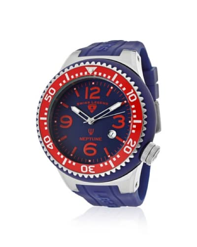 Swiss Legend Men's 21818S-F-BB Neptune Royal Blue/Red Silicone Watch