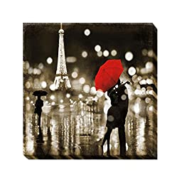 A Paris Kiss by Kate Carrigan Oversize Custom Gallery-Wrapped Canvas Giclee Art (Ready to Hang)