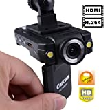 Rando HD Mini Car DVR Video Camera Recorder 2-inch LCD w/ HDMI Cable built-in Microphone