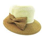 京都 おかげさまで 可愛い 麦わら 帽子 大きな リボン 付き ベビー & キッズ 子供 用 春 夏 秋 ピンク ブルー ベージュ ローズピンク (ブラウン)