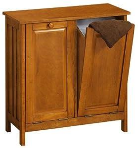 mission style tilt out laundry hamper wastebin 26 w honey. Black Bedroom Furniture Sets. Home Design Ideas