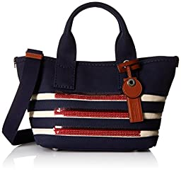 Marc by Marc Jacobs ST Tropez Small Tote Bag, New Prussian Blue/Ecru, One Size
