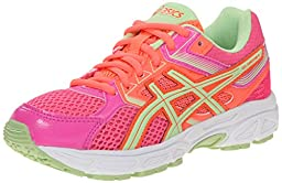 ASICS Gel Contend 3 GS Running Shoe (Little Kid/Big Kid), Hot Pink/Pistachio/Fiery Coral, 3 M US Little Kid