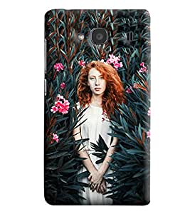 Blue Throat Girl In A Forest Printed Designer Back Cover/Case For Xiaomi Redmi 2S