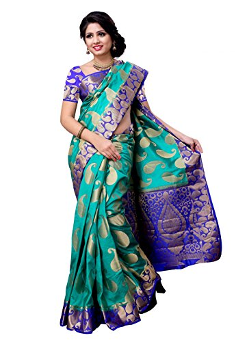 Meghdoot Raw Silk Saree (M001_Sapphirexrblue _Sapphire And Royal Blue)