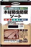 アサヒペン 木材防虫防腐ソート ブラウン 14L