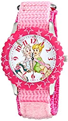 Disney Kids' W001926 Tinker Bell Analog Display Analog Quartz Pink Watch