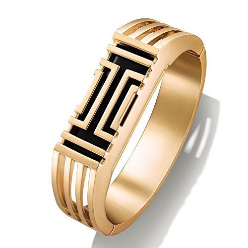 Tory Burch T for Fitbit Metal Hinged Bracelet Gold