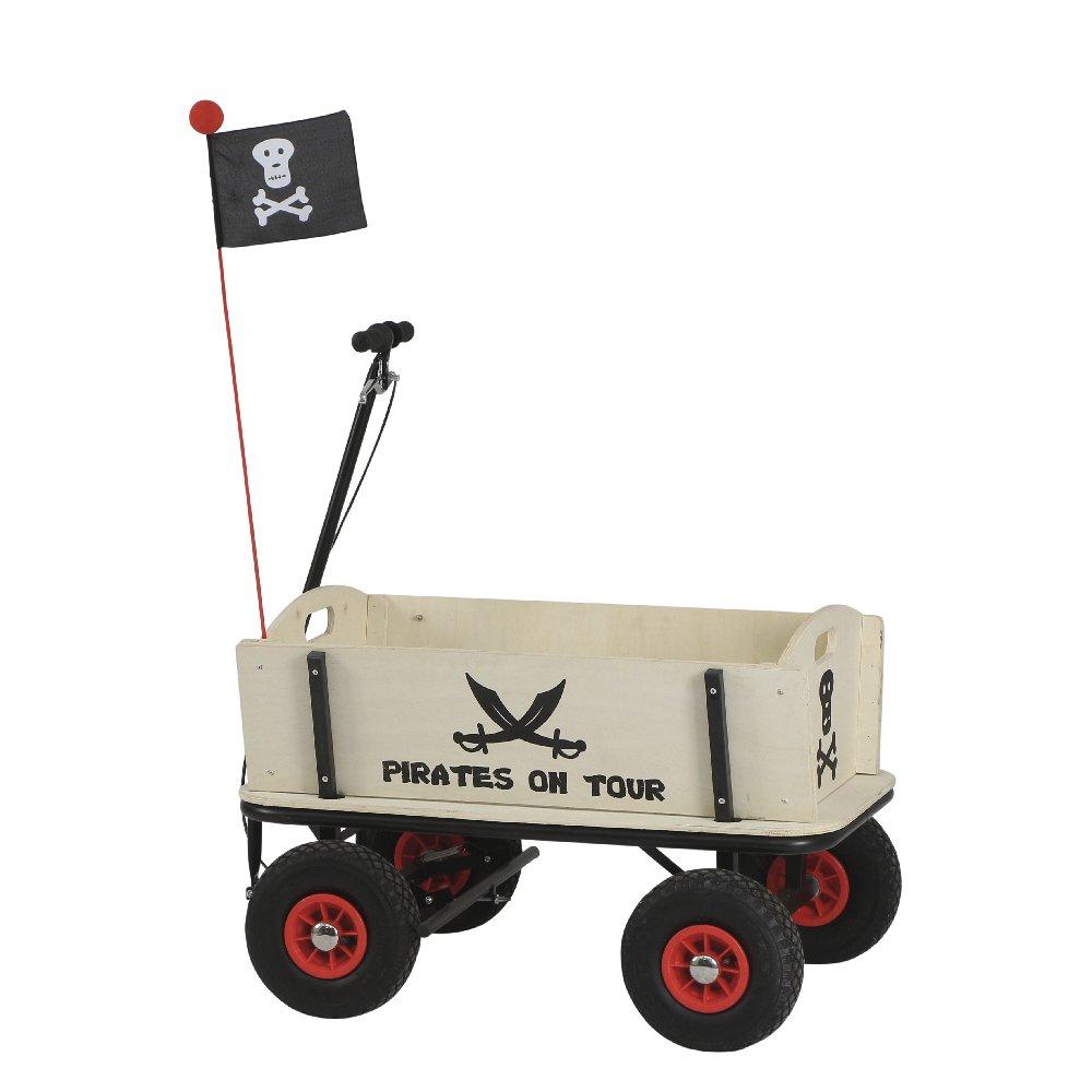 Pinolino 239088 – Pirat Jack Bollerwagen mit Handbremse, 95 x 60 x 58 cm günstig online kaufen