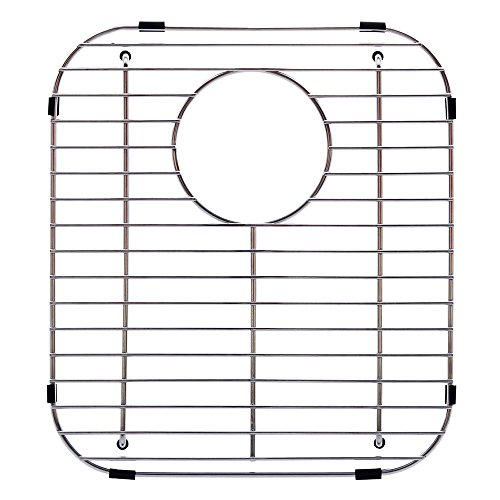Franke USA FGD75 Stainless Steel Universal Double Bowl Sink Grid with Rear Drain, 13.13