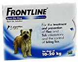 Frontline Spot On Flea and Tick Treatment for medium dogs 10-20kg