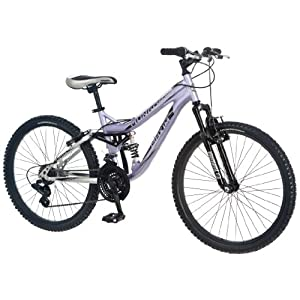 Mongoose Girl's Maxim Full Suspension Bicycle (24-Inch