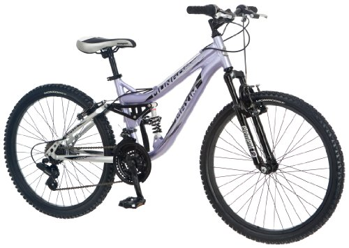 New Mongoose Girl's Maxim Full Suspension Bicycle (24-Inch)