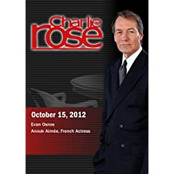 Charlie Rose - Evan Osnos; Anouk Aimée, French Actress  (October 15, 2012)