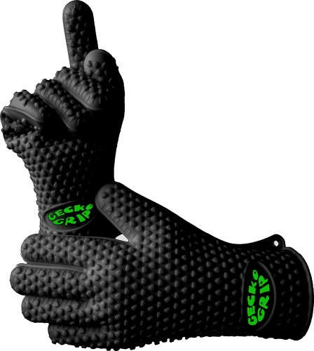 Find Bargain Verde River Products Gecko Grip Gloves, Silicone Heat Resistant Grilling BBQ, Oven, Gri...