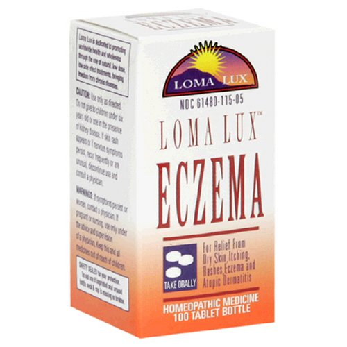 Loma Lux Homeopathic Medicine, Eczema, 100 Tablet Bottle
