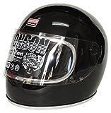 JHONSON ジョンソン かぶりごこちバツグン ビンテージ ストリート フルフェイス ヘルメット オールドブラック サイズ57cm~60cm JSH-1688OBK