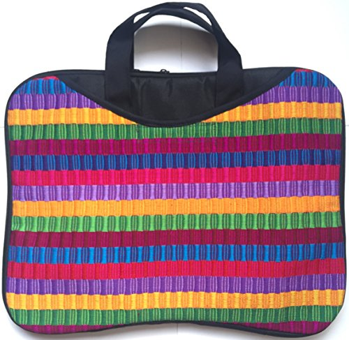 Multicolored Striped Laptop Padded Case Made In Guatemala 30