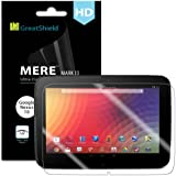 GreatShield Ultra Smooth Clear Screen Protector Film for Google Nexus 10 Tablet (3 Pack)