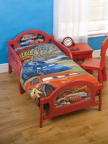 Ready Steady Bed Kids Disney Cars Toddler Junior Cot Bed With Mattress