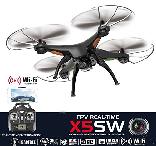 Drone with Camera Live Video X5SW Quadcopter - RC Helicopter FPV