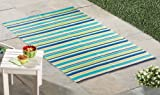 Reversible Striped Patio Mat Outdoor Rug
