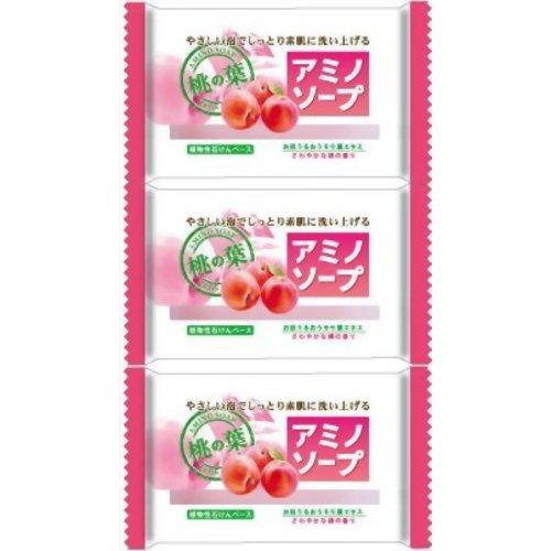 ペリカン アミノソープ 桃の葉 100g×3個