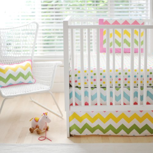 Fabulous New Arrivals Zig Zag Baby Piece Crib Bedding Set Rainbow