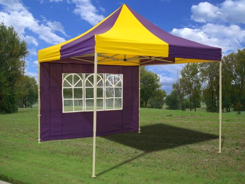 10x10 Pop up Canopy Party Tent Gazebo Ez Yellow/Purple - G Model - 2013 Upgraded New Model