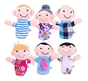 6PCS A SET Finger Puppet/Dolls/Toys Story-telling Props/Tools Toy Model Babies/Kids/Children Toys,Family from Viskey
