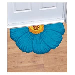 Flower shaped outdoor welcome mat this rug is a great door mat great floor mat - Front door mats as a guest greeting tool ...