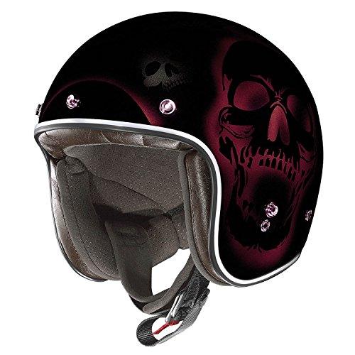 X-Lite 201Las Cruses Motorcycle Composite Fibre N-Com Jet Helmet Black/Red